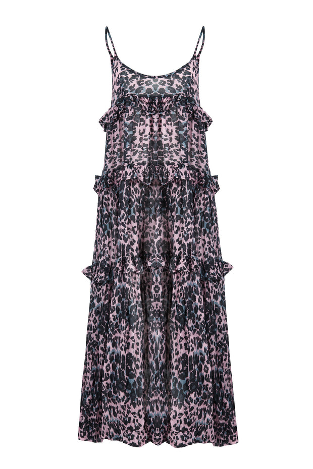 Cooper Tropic Like Its Hot Dress - Pink Leopard