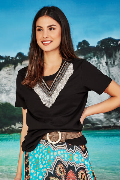 Cooper Sparkle Par-Tee - Black | Shop Cooper by Trelise Cooper at IKON