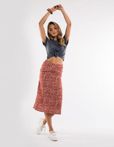 Mini Bloom Twist Skirt Copper