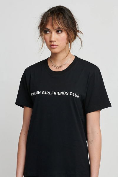 Text Logo Tee - Black | Shop Stolen Girlfriends Club SGC at IKON NZ