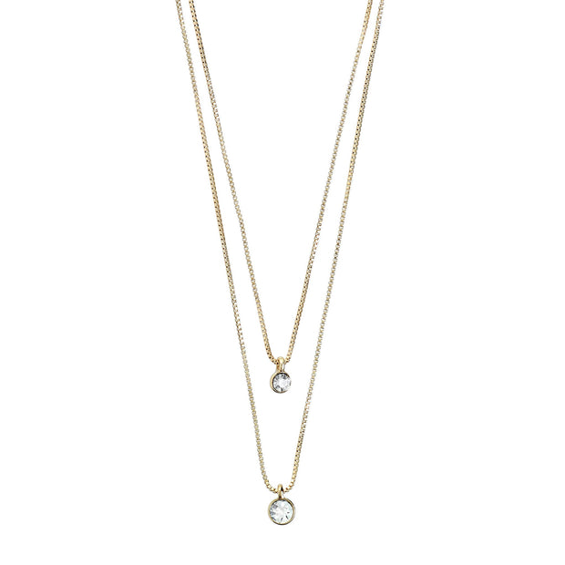 Lucia Pi Necklace - Double/Gold Plated | Shop Pilgrim Jewellery, IKON NZ