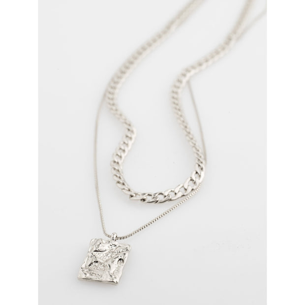 Bathilda Necklace - Silver Plated
