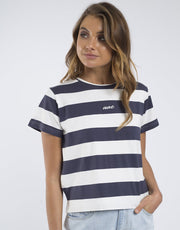 Verge S/S Tee - Navy | Shop All About Eve at IKON in Arrowtown, NZ