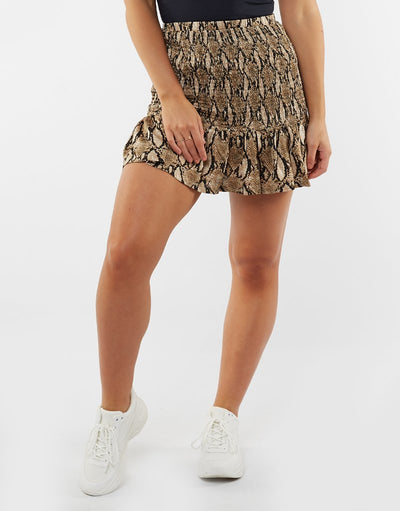 Desert Ruched Mini Skirt - Print shop online or in store at IKON