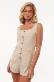Utility Playsuit - Nude | Shop All About Eve at IKON NZ