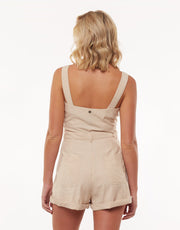 Utility Playsuit - Nude