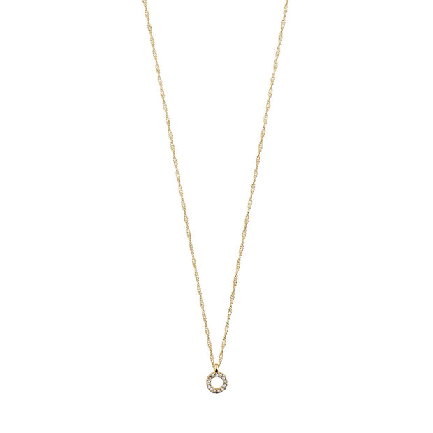 Tessa Necklace - Crystal/Gold Plated | Shop Pilgrim Jewellery, IKON NZ