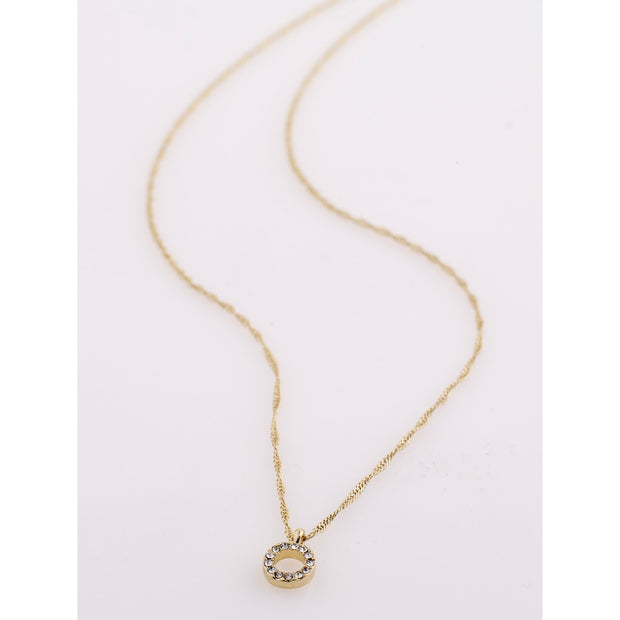 Tessa Necklace - Crystal/Gold Plated