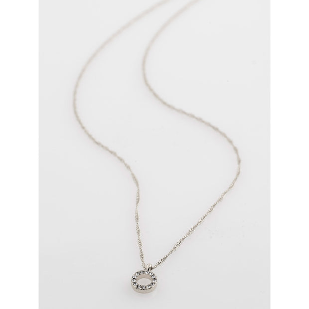 Tessa Necklace - Crystal/Silver Plated