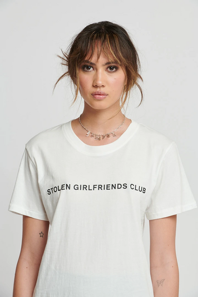 Text Logo Tee - White | Shop Stolen Girlfriends Club SGC at IKON NZ