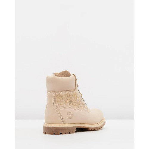 "Womens Icon 6"" Premium Waterproof Boot - Light Beige w Henna"
