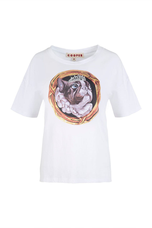 Cooper Hot Diggity Dog T-Shirt White