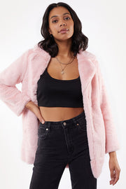 Jorge Laurel Fur Coat - Pink | Shop Jorge at IKON Arrowtown in NZ