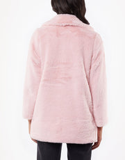 Jorge Laurel Fur Coat - Pink