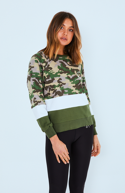 Cartel Splice Sweater - Army | Shop Cartel & Willow at IKON NZ