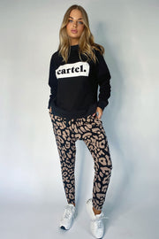Kenji Comeback Pant - Blush Leopard | Shop Cartel & Willow at IKON NZ