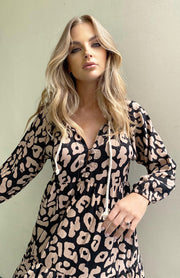 Cali Maxi Dress - Blush Leopard