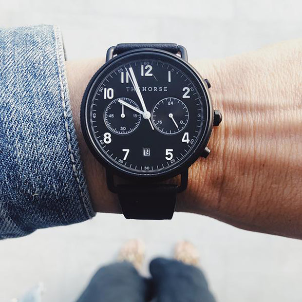 The MIni Chronograph Watch - Black/Black/Black