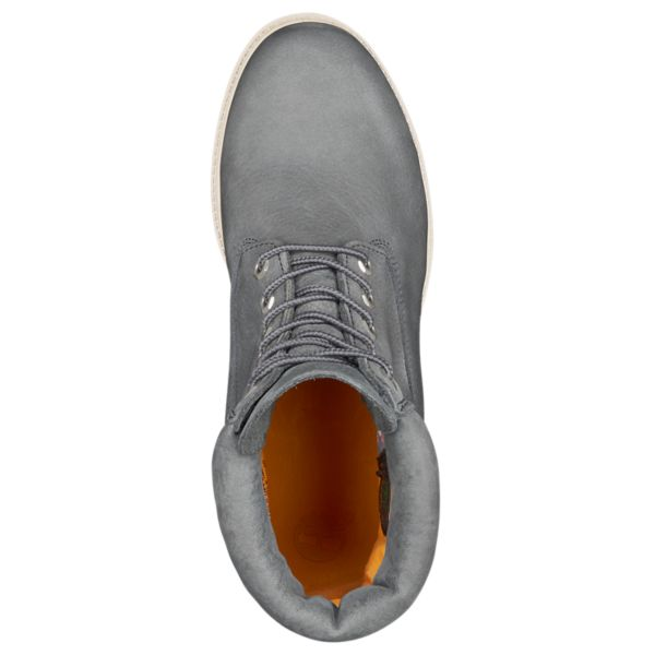 "Mens Icon 6"" Premium Waterproof Boot - Dark Grey Nubuck"