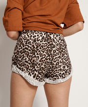 Bandits Mid Waist Shorts - Animal Print