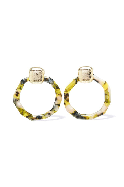 Akela Stud Earring - Yellow Tort