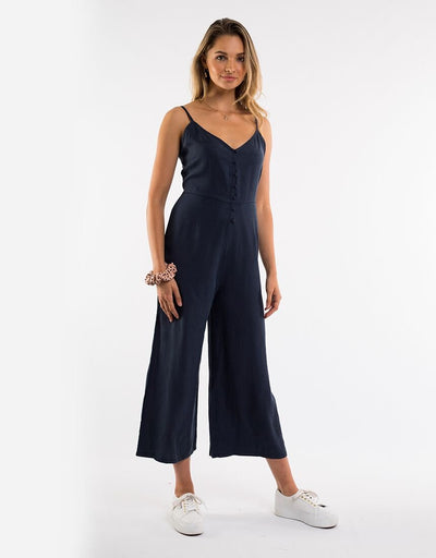 Nina Washed Jumpsuit - Navy
