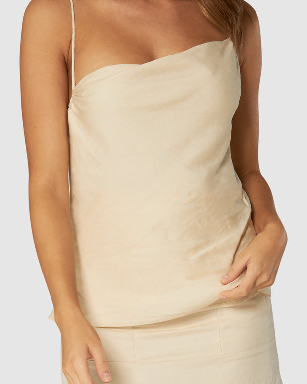 Amour Linen Cami Top - Butter Cream | Shop Apero The Label at IKON NZ