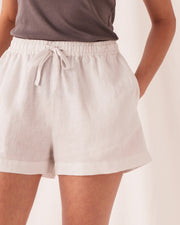 Womens Anika Linen Short - Silver Grey