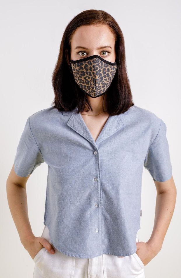 Brixton Antimicrobial Facemask - Leopard