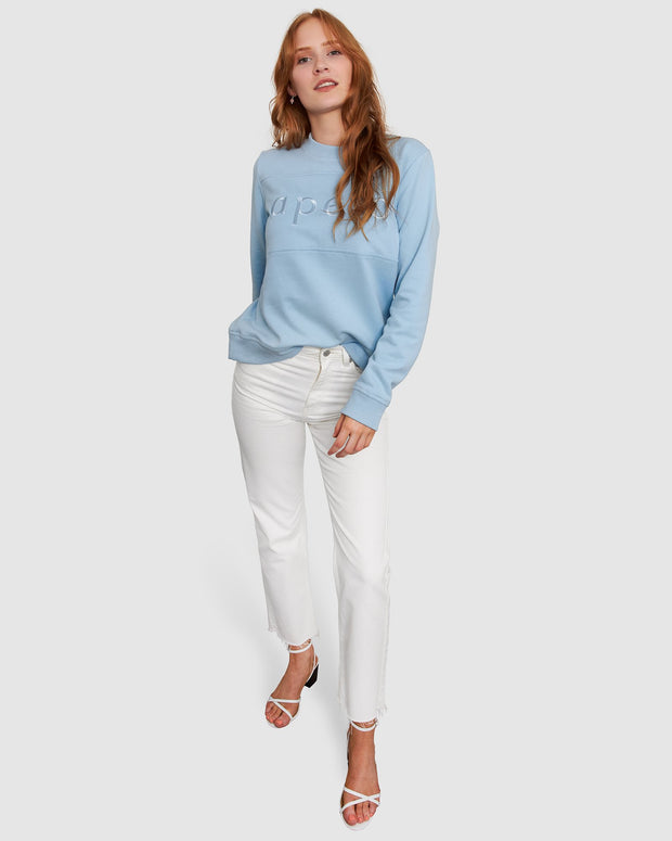 Embroidered Panel Jumper - Sky Blue | Shop Apero The Label at IKON NZ