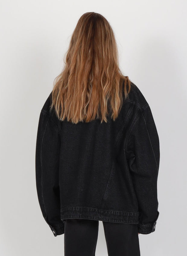 Blown Out Denim Jacket - Washed Black