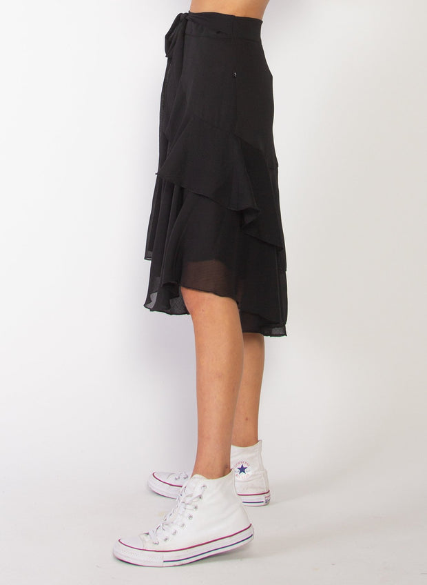 Butterflies Skirt - Black