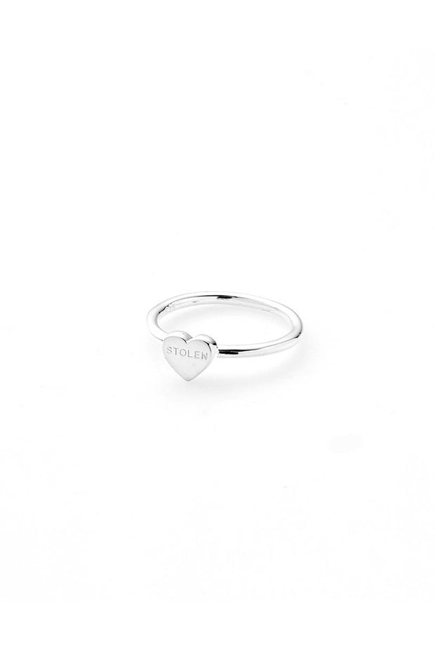 Baby Stolen Heart Ring - Silver