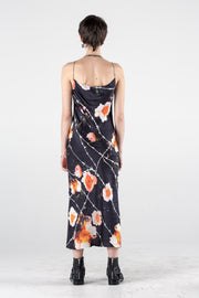 Chain Gang Slip Dress - Floral Print