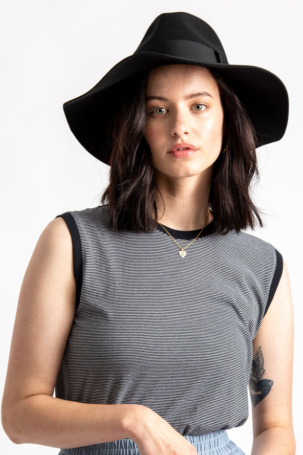 Brixton Piper Hat Black | Shop Brixton at IKON in Arrowtown NZ
