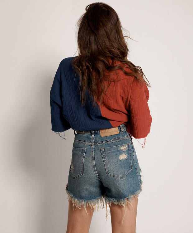 Bonita High Waist Denim Shorts - Colorado