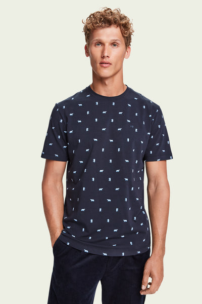 Mens Stretch Cotton Short Sleeve T-Shirt | Shop Scotch and Soda at IKON