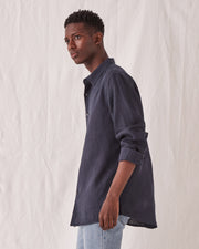 Mens Casual LS Shirt - True Navy