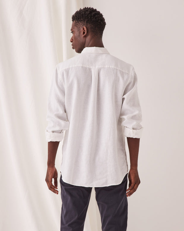 Mens Casual LS Shirt - White
