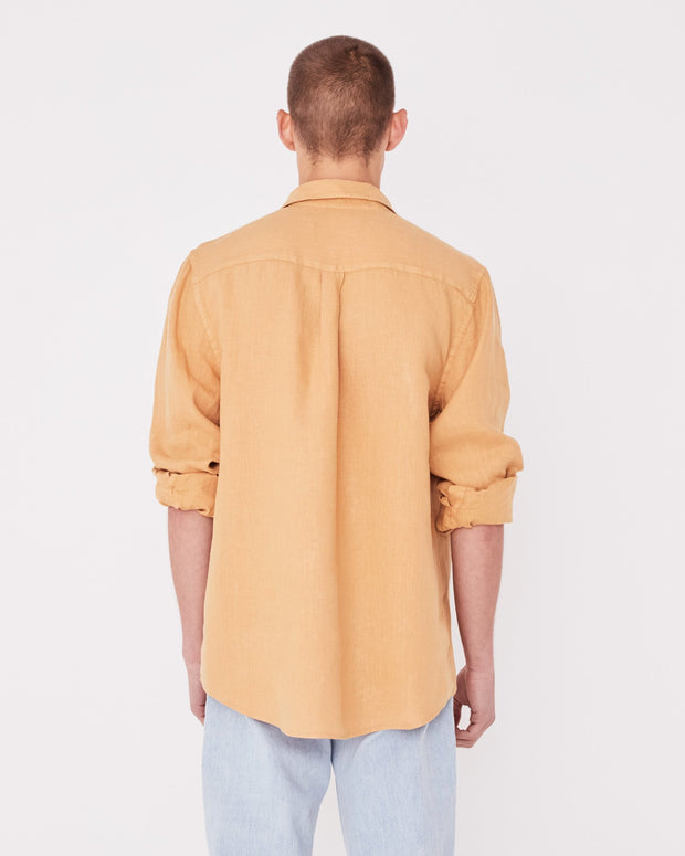 Mens Casual Long Sleeve Shirt - Amber
