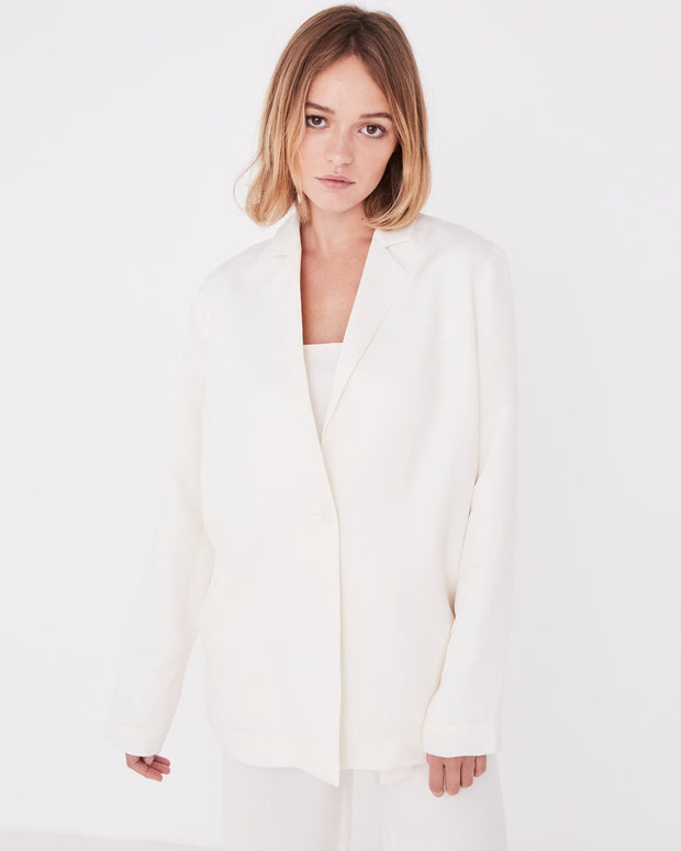 Womens Column Blazer Vintage White | Shop Assembly Label at IKON
