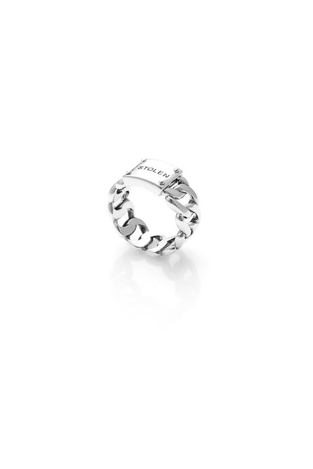 Curb Ring Wide - Silver
