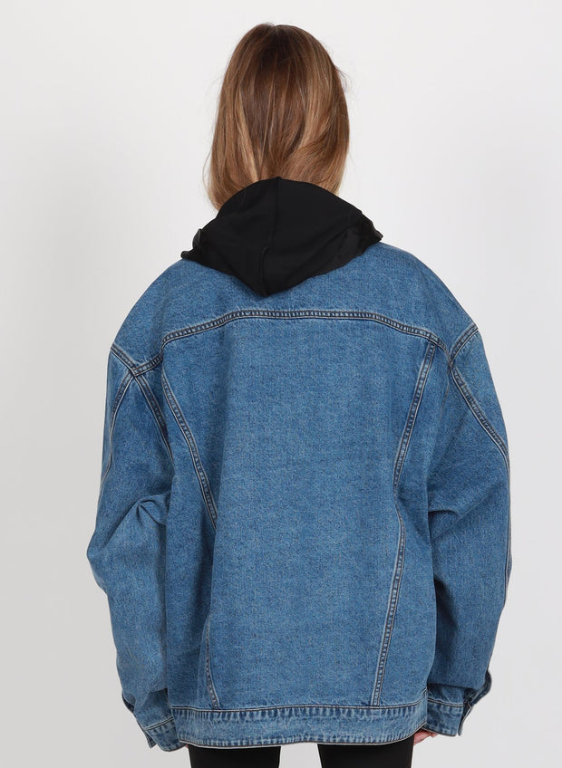 Blown Out Denim Jacket - Washed Blue