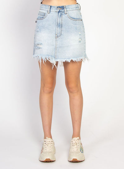 Distressed Welcome Skirt Washed Blue | Buy Federation online at IKON