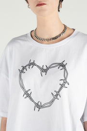 Heart Wire Tee - Vintage White