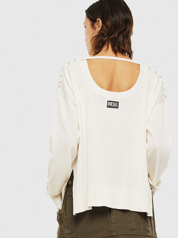 Womens M-Perla-A Pullover - White G129 | Shop Diesel online at IKON
