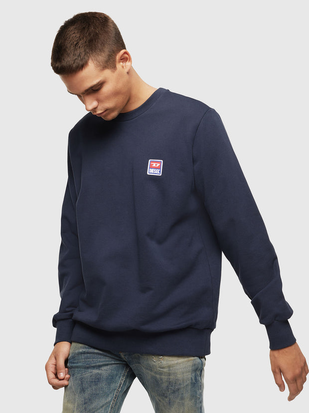 Mens S-GIR-DIV-P Sweat - Navy | Shop Diesel Clothing at IKON NZ