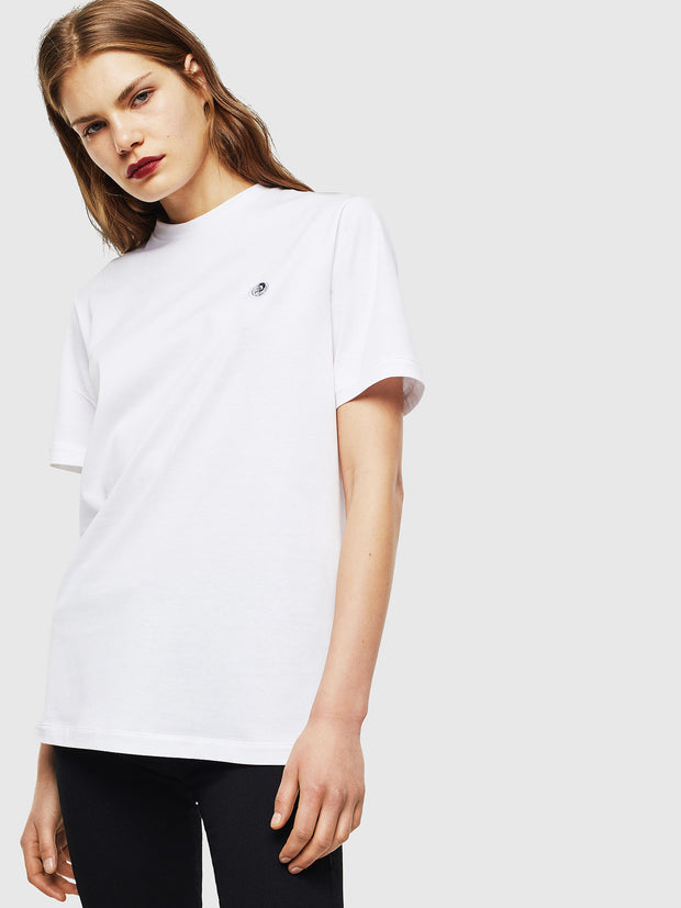 Mens T-Justy-LS Tee - White | Shop Diesel Clothing at IKON NZ