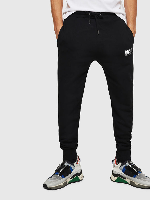 Mens P-Tary-Logo Sweatpants - Black 900 | Shop Diesel Clothing at IKON