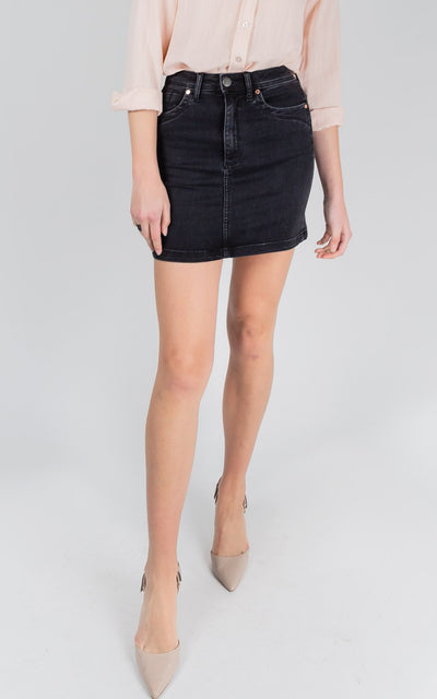 Leah High Waisted Skirt Black Sheep